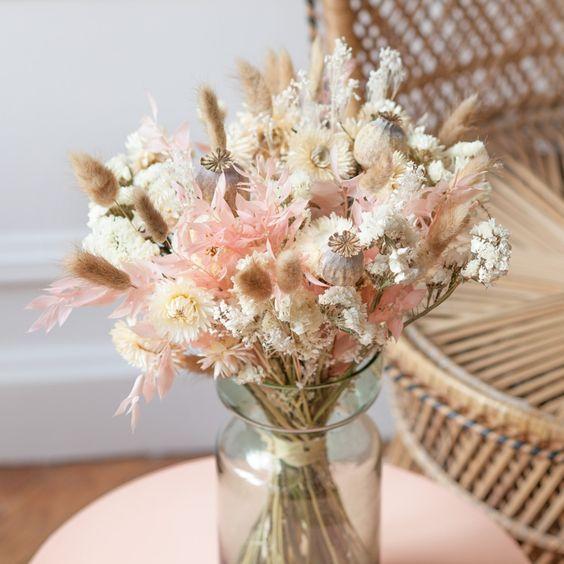 À la rentrée je veux des fleurs séchées