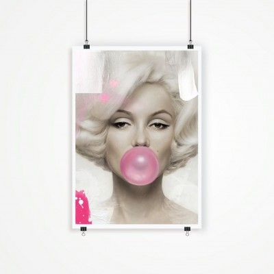 Poster/Canvas - I LOVE DESIGN - Marilyn Monroe