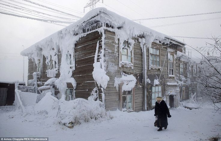 The coldest inhabited place on Earth is a small village in the Siberian tundra called Oymyakon,a two-day drive from the coldest major city Yakutsk, where temperatures have been recorded as low as -90 degrees Fahrenheit