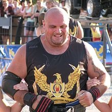 Laurence Shahlaei - winner of the England's Strongest Man title at 2009 and repeat competitor at the World's Strongest Man.