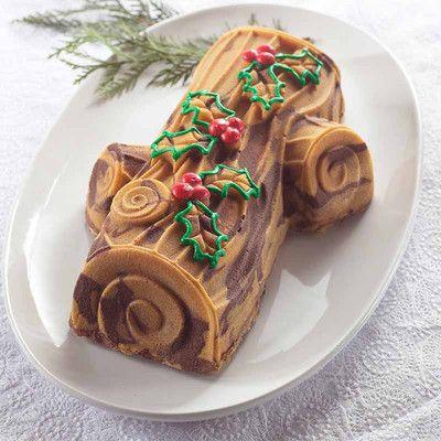 Forma do ciasta Yule Log Nordic Ware. Więcej znajdziesz na mykitchen.pl #kuchnia #homedecor #formydopieczenia