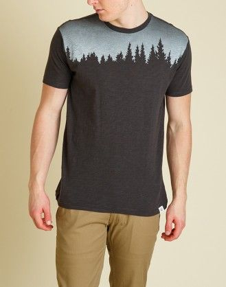 The Juniper is a 100% organic cotton slub jersey, regular fit tee with a tree line yoke graphic to reflect the natural world that is in need of attention. #eco #organic #recycled #tentree #fashion #environment #clothing #slowfashion