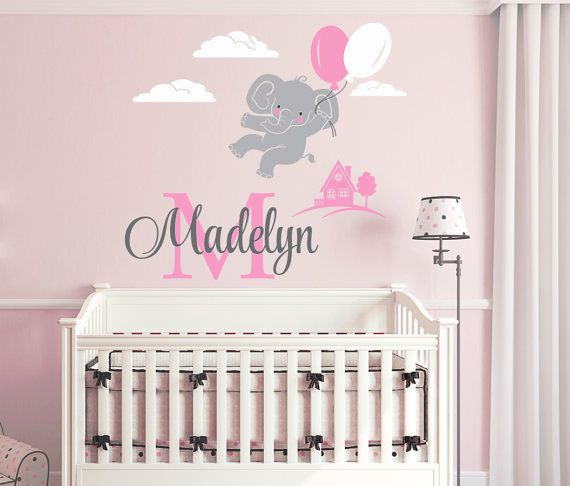 Best Elephant Themed Personalized Vinyl Wall Decals And Art - Personalized custom vinyl wall decals for nurserypersonalized wall decals for kids rooms wall art personalized
