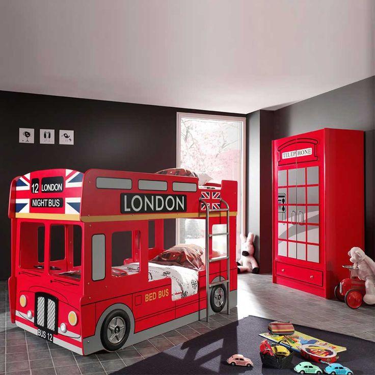 Beautiful Bus Etagenbett in Rot auf Rechnung teilig Jetzt bestellen unter