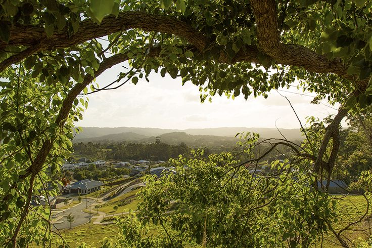 A magical view over Palmwoods on the Sunshine Coast, Queensland.