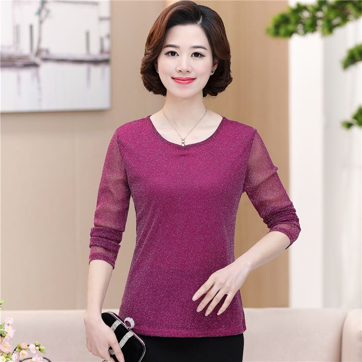 >> Click to Buy << 2017 new fashion middle age spring autumn women basic t-shirt female summer o-neck long-sleeve loose plus size shirt pullovetop  #Affiliate