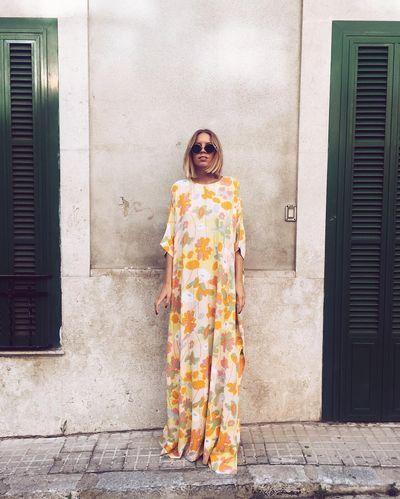 Boheme spring // street style // floral maxi tee dress // simple bohemian chic