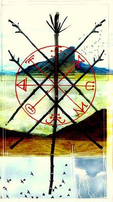 Tarot MAXIMO: Five of Wands