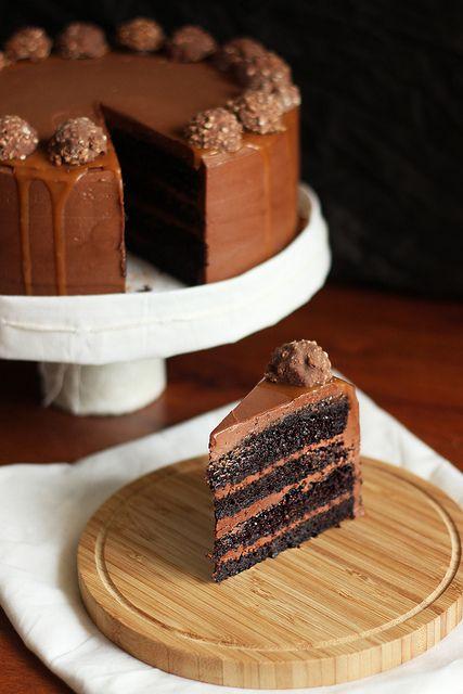 Chocolate Hazelnut and Salted Caramel Chocolate Birthday Cake