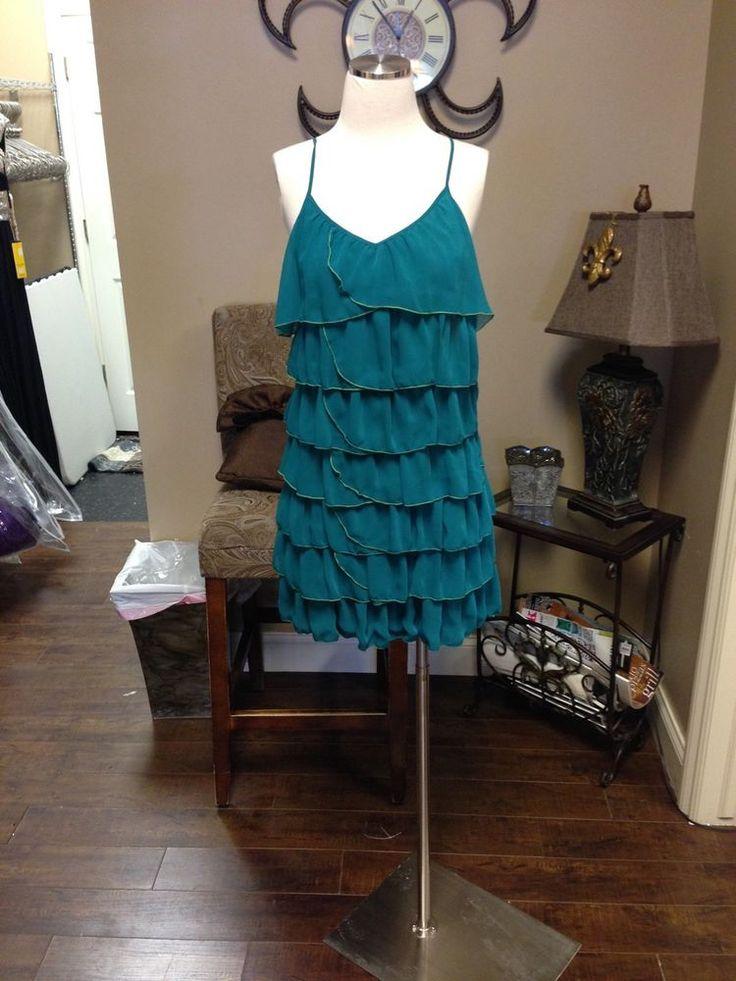 Green Flowy Summer Dress Size 8 #HM #Blouson #Formal