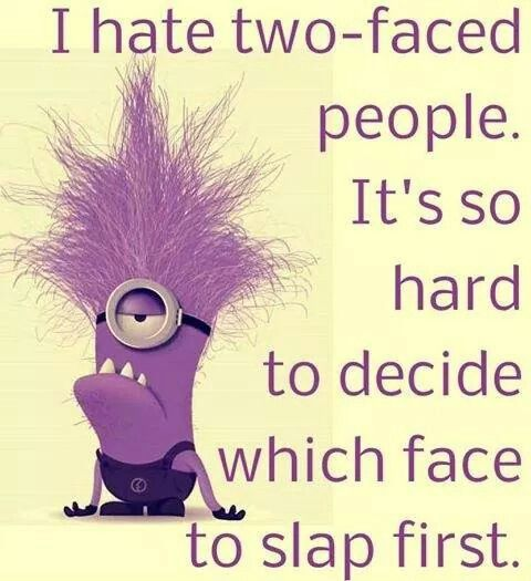 Quotes For People Who Are Two Faced: 438 Best Images About You Always Need An Army Of Minions