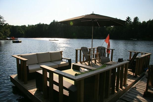 Not that I have a cottage, but it is on my deam wish list. If I had one, I would totally make a seating area on the dock. -- Create a Stylish Canadian Cottage | Blog | HGTV Canada