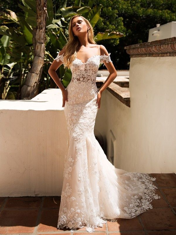 Off Shoulder Mermaid Lace Wedding Dress Moonlight J6710 Wedding Dresses Lace Mermaid Wedding Dress Bridal Gowns