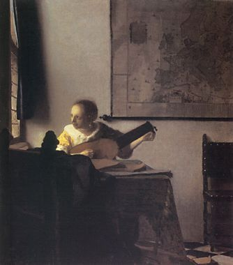 Woman With a Lute. Vermeer.  1664