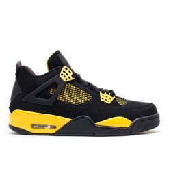 "air jordan 4 retro ""thunder 2012 release"" - black/white-tour yellow  