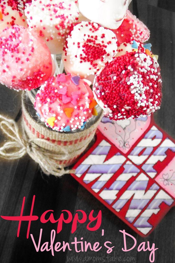 Easy Valentine Marshmallow Pops