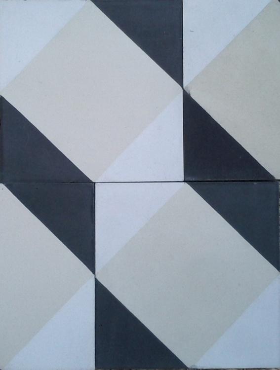 Carreaux ciment: modèle Art deco en 14X14  interior  Pinterest