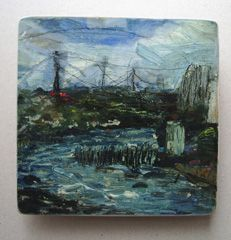 Oil paint on board. 1hr. Tynemouth.