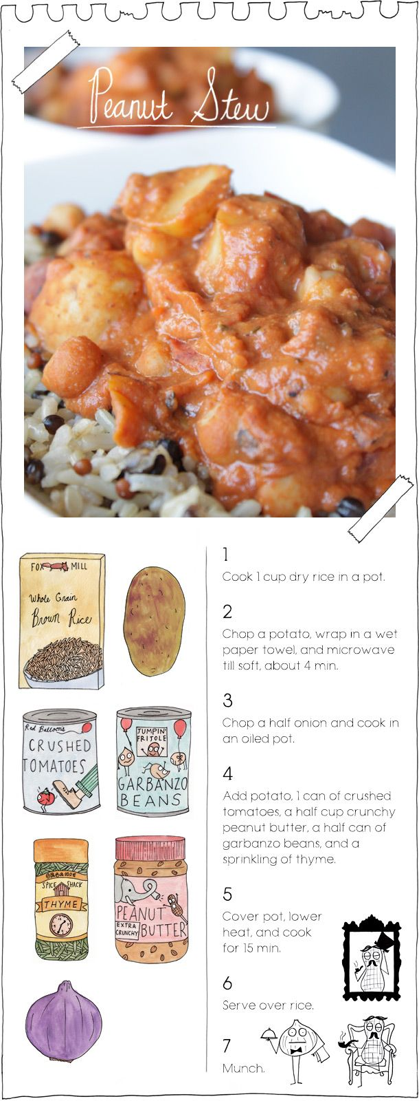 We (even Jane!) love the Vegan Stoner's Peanut Stew (+ seitan & a little chili-garlic sauce, and with whatever beans seem pleasing--chickpeas or otherwise). Fast easy hippie food hooray.