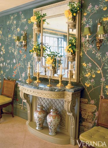 Charlotte Moss Dining Room Never Enough Of This E That Dark Green Chinoiserie