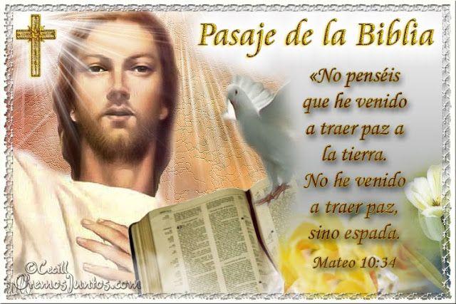 Vidas Santas: Santo Evangelio según san Mateo 10:34