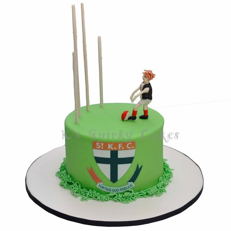 St Kilda Football Cake By Ks Quirky Cakes cakepins.com