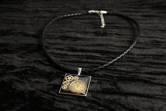 Silver Steampunk Square Frame Pendant by AnomalieAccessories, $25.00