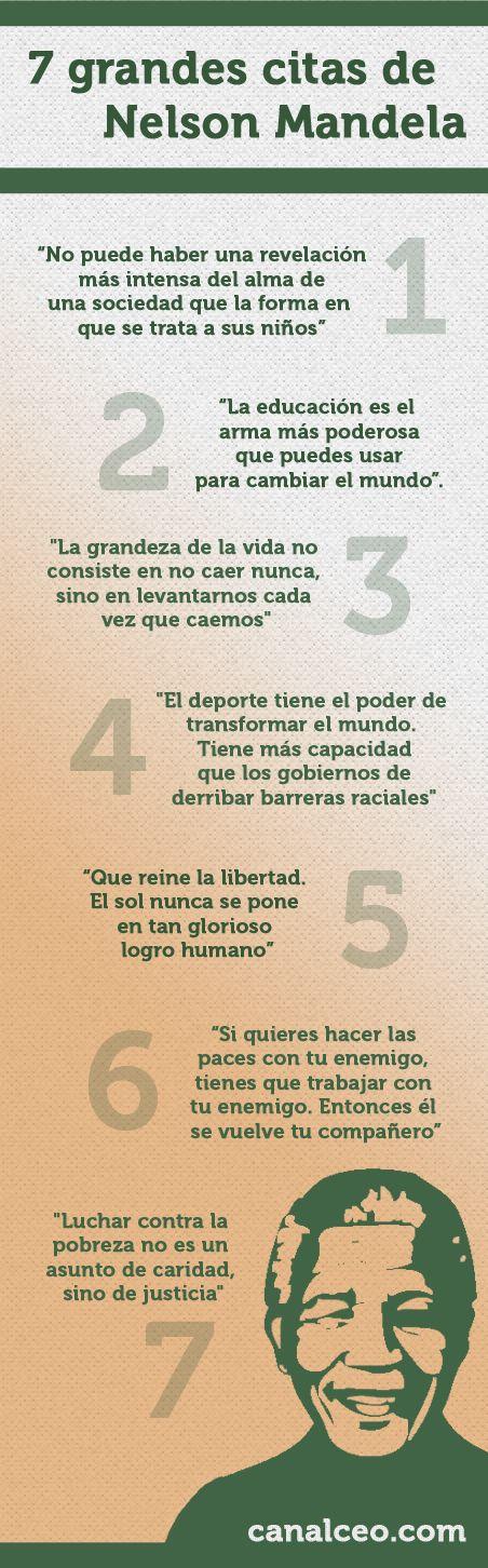 7 grandes citas de Nelson Mandela #infografia #infographic #citas #quotes
