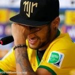 """Brazil most dangerous player Neymar Jr, who's recovering quite well from his injury said in a statement of yesterday's press conference that - (While Crying)""""Zuniga apologized but If it was 2 centimeters lower, I could be in a wheelchair today."""" [..."""