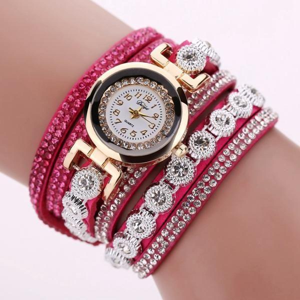 DUOYA DY038 Colorful Fashion Style Wristwatch Crystal Round Dial Bracelet Elegant Women Watch at Banggood  #women #fashion #jewelry #watches