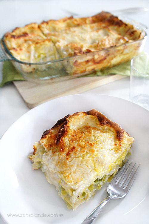 Lasagne ai porri - Leek lasagne