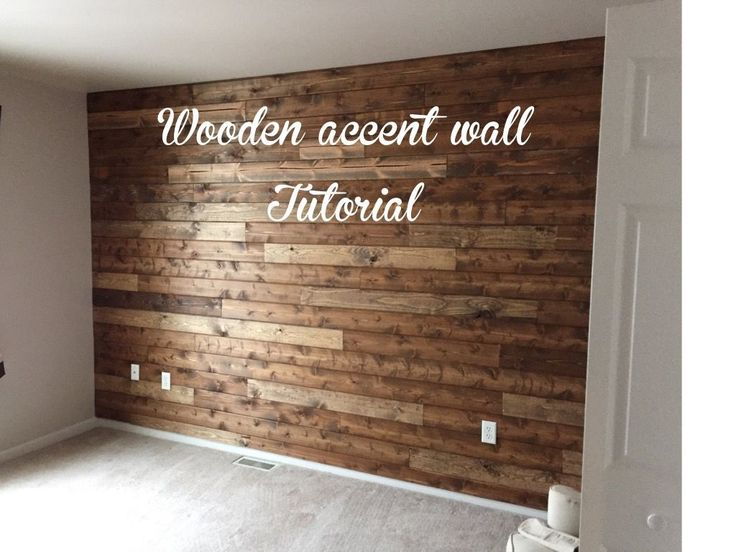 Wooden Accent Wall Tutorial. Wood Accent WallsWood ...