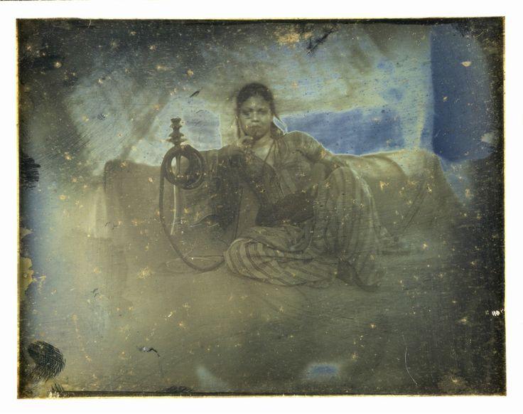 Joseph Prangey - Ayoucha sitting, Cairo, 1842-44