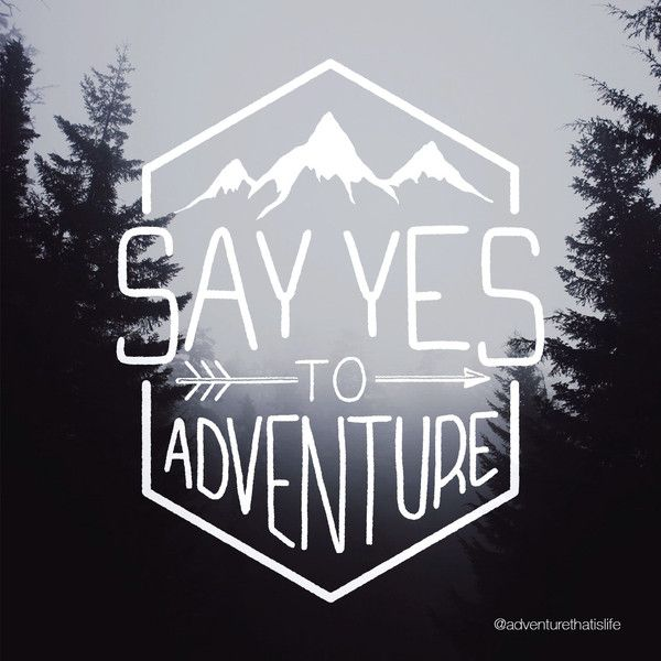 Say yes to adventure single sticker