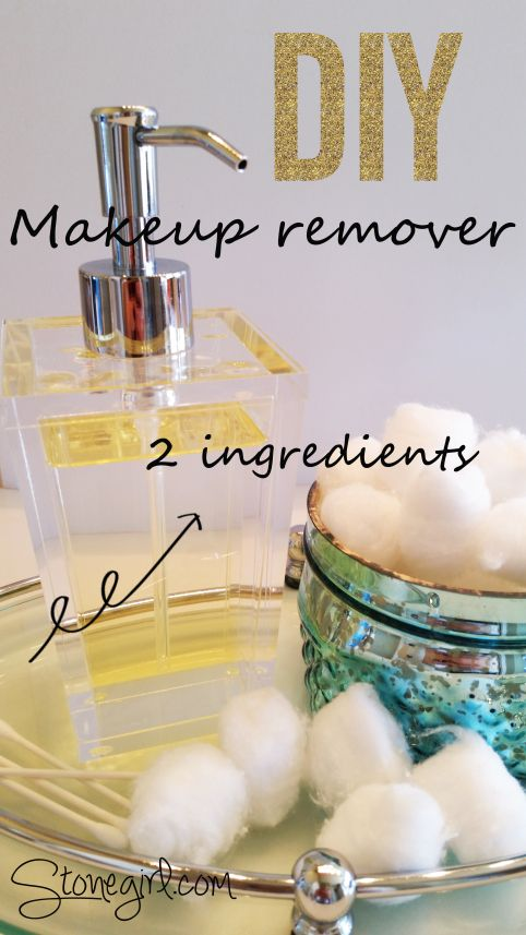 DIY makeup remover with just 2 ingredients! Very easy to make. #diy,#makeup remover.
