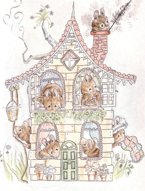 My friend Clelia illustrations for children books, Quieta Radura