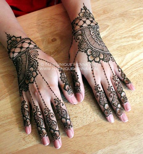 Sana's bridal henna 2013 © NJ's Unique Henna Art