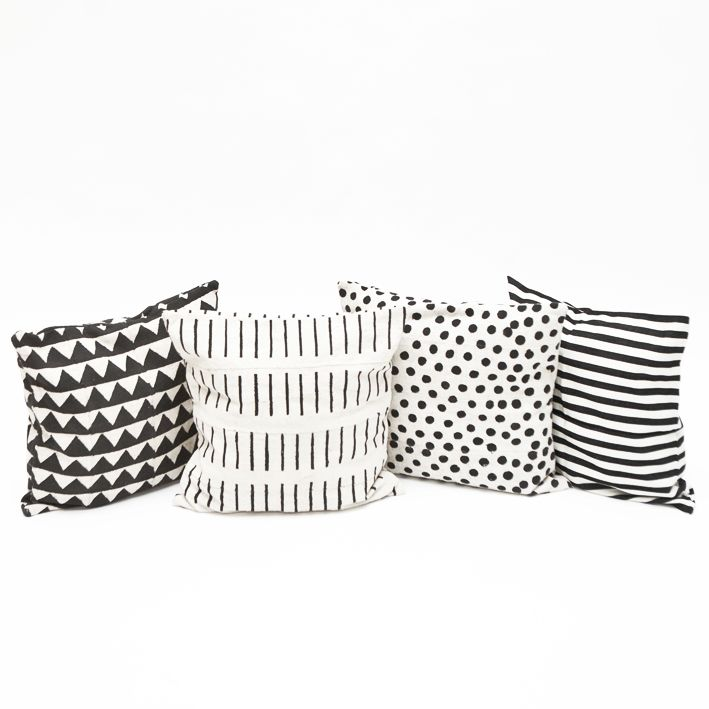"Swedish design meets African crafts. This wonderful pillow case from Mali, in thick cotton is handmade by a centuries old technique called Bògòlanfini (""mud cloth""). Bogolan means ""the result given by the mud""    Handmade & Fairtrade!"