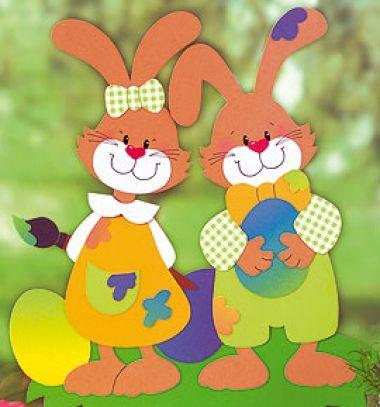 Nyuszis húsvéti ablakdísz papírból (ingyenes nyomtatható sablonnal) / Mindy -  kreatív ötletek és dekorációk minden napra