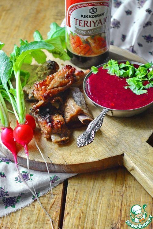 Смородиновый соус с коньяком - кулинарный рецепт