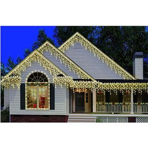 holiday time 300 count heavy duty icicle christmas lights clear - Outdoor Icicle Christmas Lights
