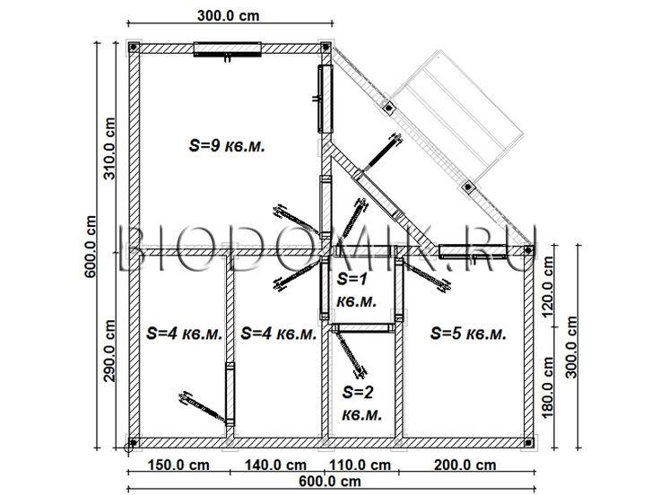 Проект бани из бруса 6х6 » Построим под ключ » Строительство в Ленобласти и Подмосковье
