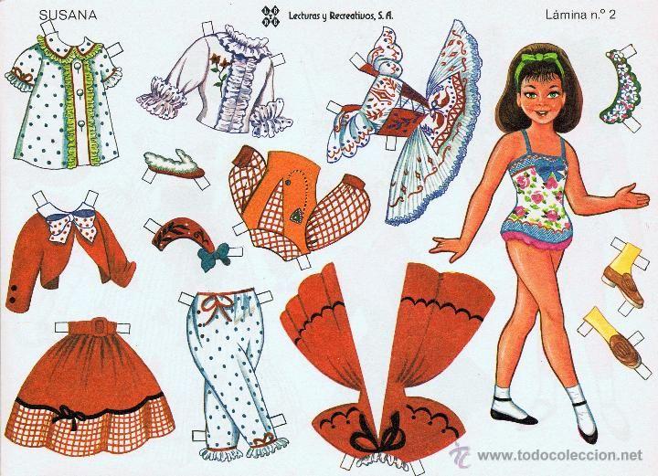 Coleccionismo Recortables: 10 LÁMINAS DE RECORTABLES MUÑECAS RECORTABLES LEYRE. 1980 OFRT - Foto 2 - 54949359