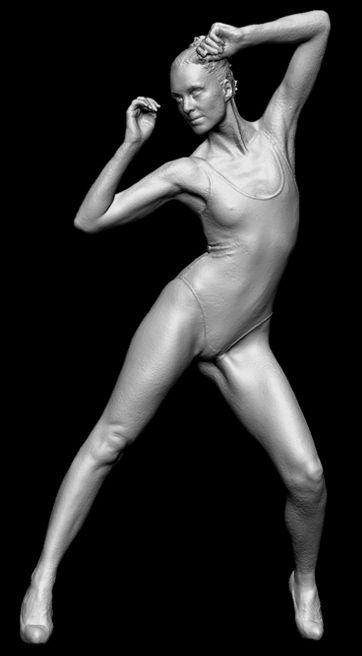 Sculpted 3D Model.