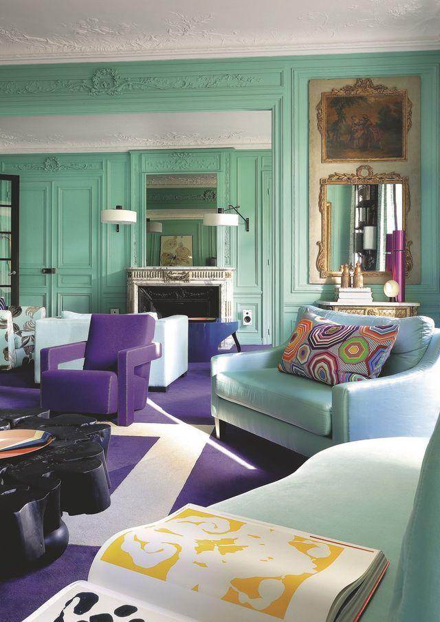 Appartement Paris 17 Ternes : une déco avec de la couleur