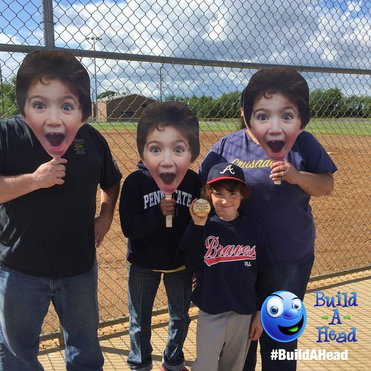 Little League BIG heads. Make your own fun with Build-A-Head face cutouts. Ships next day with any photo you use. Players and parents love them. Good team fun!