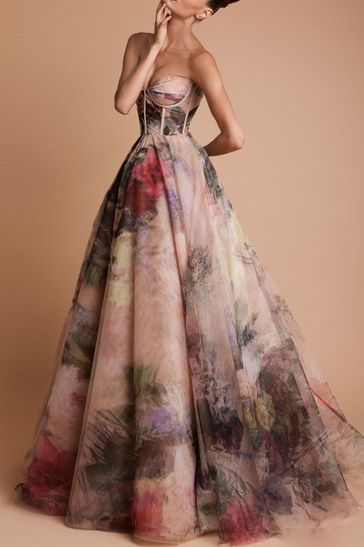 watercolor dress // Rani Zakhem Haute Couture Fall/Winter 2013/2014