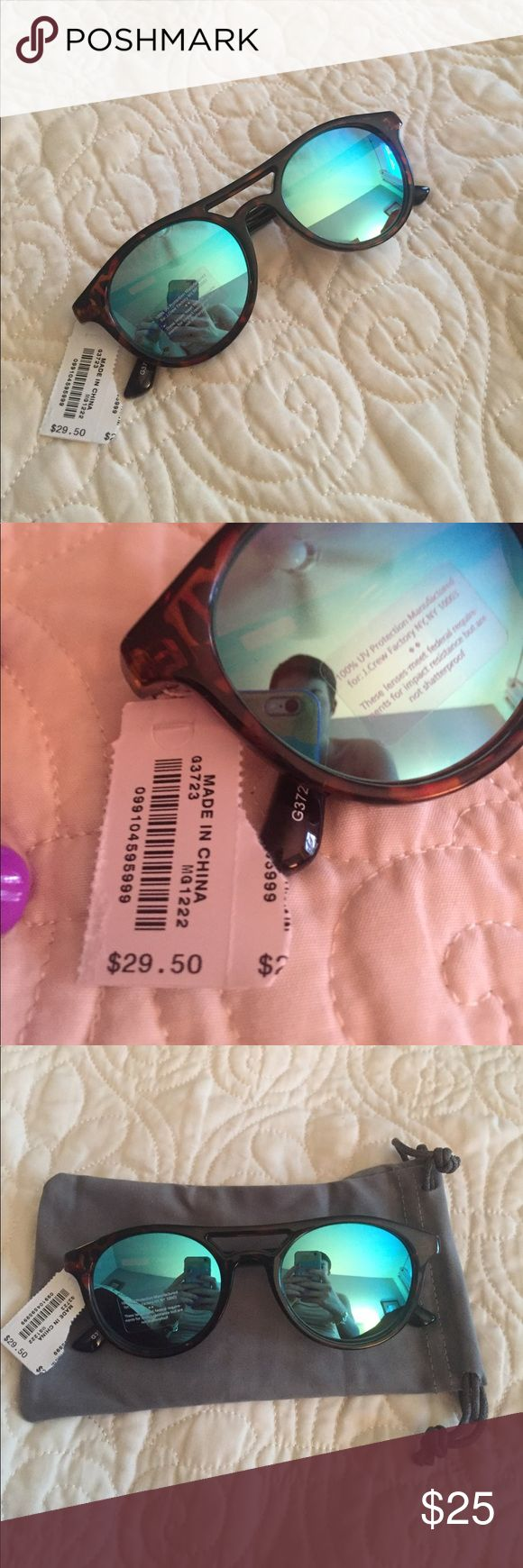 NWT J Crew Factory tortoise sunglasses NWT J Crew Factory tortoise sunglasses. Sticker still on lens. Comes with new cloth sunglasses pouch. J. Crew Factory Accessories Sunglasses