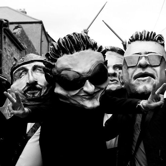 Kinda U2 #u2 #lookalikes #masks #blackandwhite #kilkenny #ireland