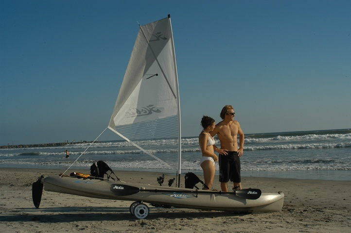 Hobie Mirage Outfitter with the extra sail.